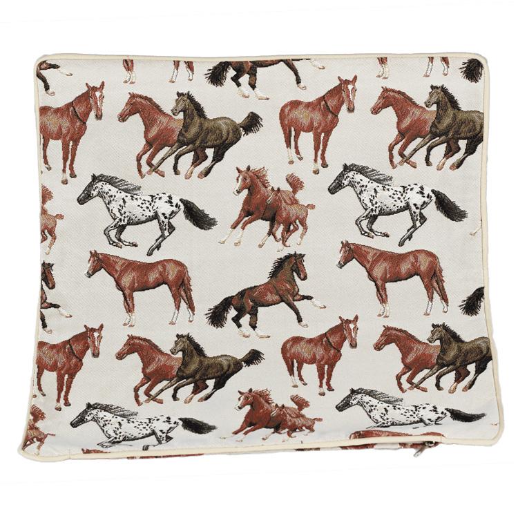 Kussenhoes Rennende Paarden