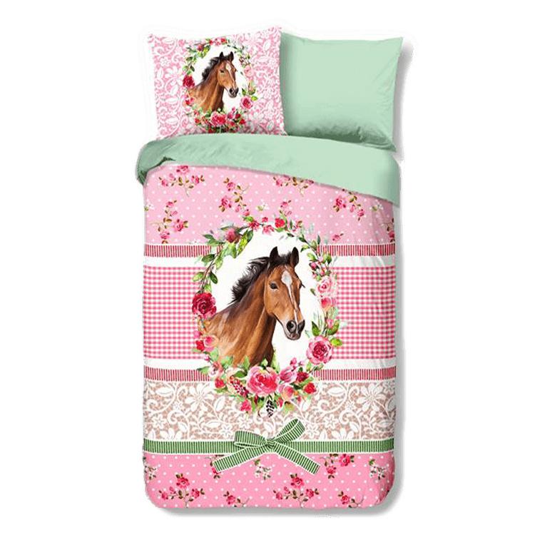 Paarden Dekbedovertrek Brocant 140x220