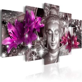 581 Buddha Paarse Bloemen