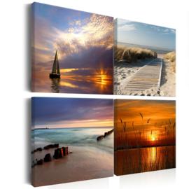 nr 19 Sunset Noordzee Strand