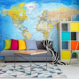 Blauw Wereldkaart nr 944