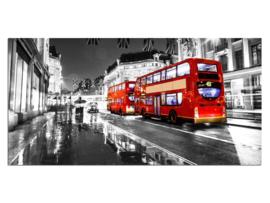 11 Londen Rode Bus Glas Schilderij