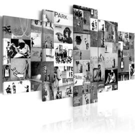 nr86 Collage banksy Zwart Wit