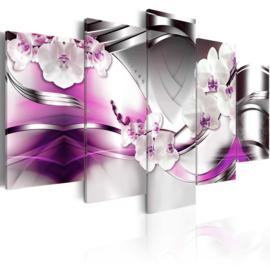 nr40 Modern Paars Grijs Orchidee