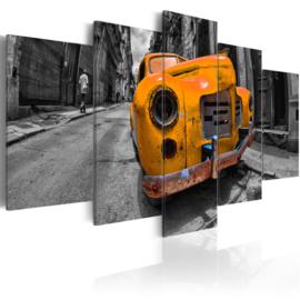 596 Oranje Oldtimer Auto