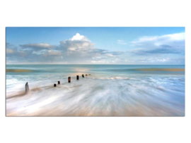 23 Zee Strand  Glas Schilderij