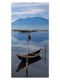 141 Thailand Boot Glas Schilderij