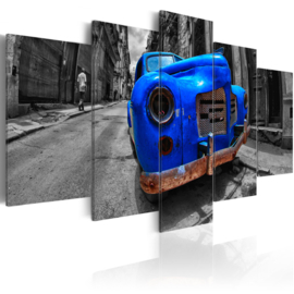 594 Blauw Oldtimer Auto