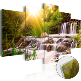 40 Waterval Natuur Acrylglas Schilderij