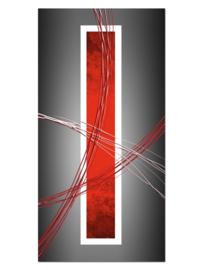 109 Abstract Rood Grijs Glas Schilderij
