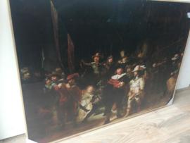 De Nachtwacht Rembrandt Canvas in Lijst 100x70cm
