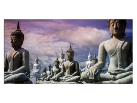 42 Buddha Glas Schilderij