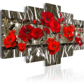 545 Modern Rode Bloemen