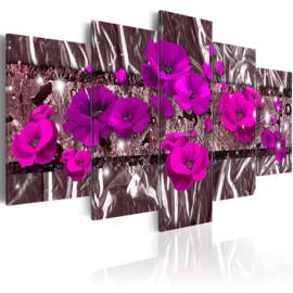 546 Modern Paarse Bloemen