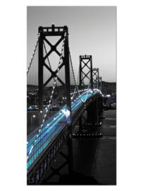 123 San Francisco Brug Glas Schilderij