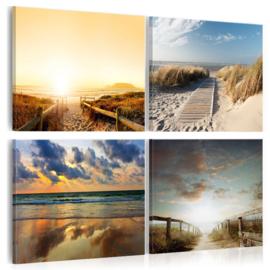 nr 18 Strand Noordzee Sunset