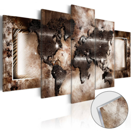 7 Wereldkaart Acrylglas Schilderij