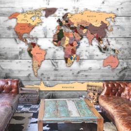 Hout Wereldkaart nr 893