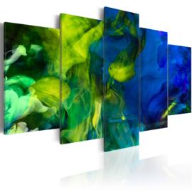 539 Abstract Groen Blauw