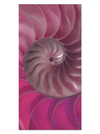 142 Abstract Roze Design Glas Schilderij