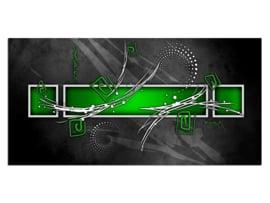 35 Abstract Grijs Groen Glas Schilderij