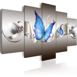 706 Modern Blauw Vlinder