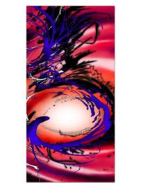 148 Abstract Roze Blauw Glas Schilderij
