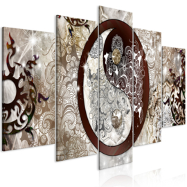 1019 Yin Yang Abstract Art