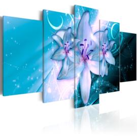 552 Modern Blauw Bloemen