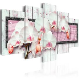 343 Orchidee Roze Hout