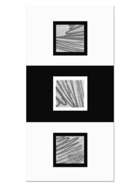150 Zwart Wit Modern Glas Schilderij