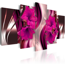 645 Roze Paarse Bloemen Modern