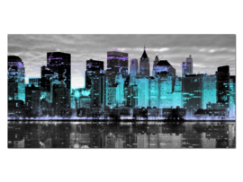 2 New York Skyline Glas Schilderij