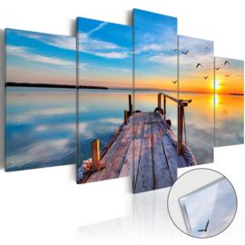 34 Steiger Sunset Acrylglas Schilderij