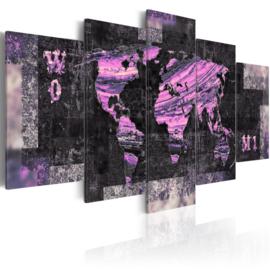 293 Paars Wereldkaart