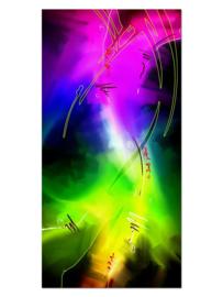 146 Regenboog Colors Glas Schilderij