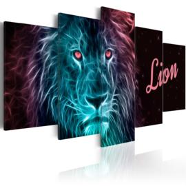 927 Abstract Leeuw Blauw Roze