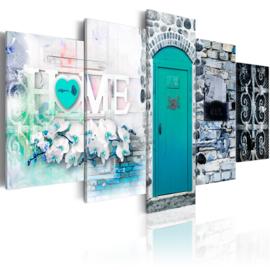 399 Home Blauw Deur