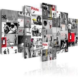 nr87 Banksy Collage