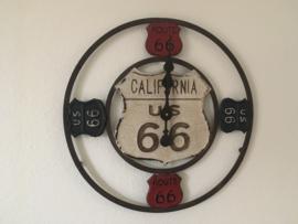 Retro Route 66 Wandklok 53cm