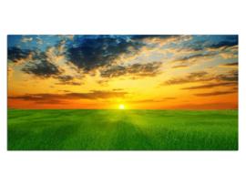 47 Landschap Sunset Glas Schilderij