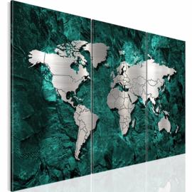 nr 21 Groen Wereldkaart