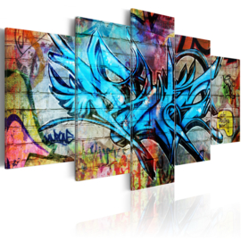 710 Blauw Graffiti