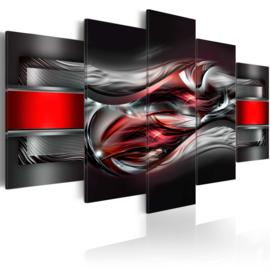 628 Abstract Zwart Grijs Rood