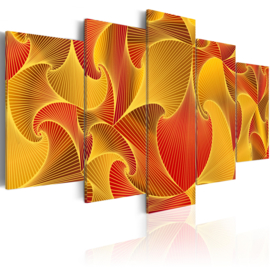 130 Abstract Geel Rood