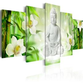 424 Witte Buddha Bloemen