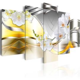 nr38 Modern Geel Grijs Orchidee