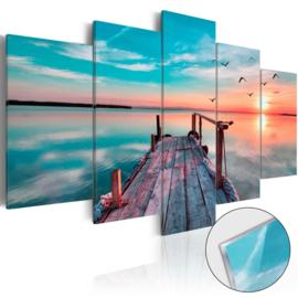 33 Sunset Steiger Acrylglas Schilderij