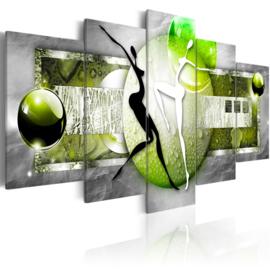 709 Groen Grijs Dansend Stel
