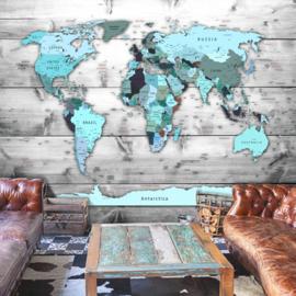 Hout Blauw Wereldkaart nr 894